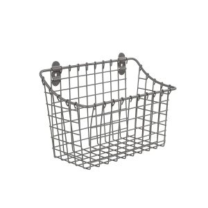 "Large 7. 5""H x 10. 25""W x 5. 5""D Gray Cabinet & Wall Mount Basket"