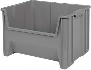 Large Black Recycling Bin