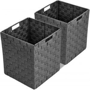 Large Cascade Gray Cube Case Bin