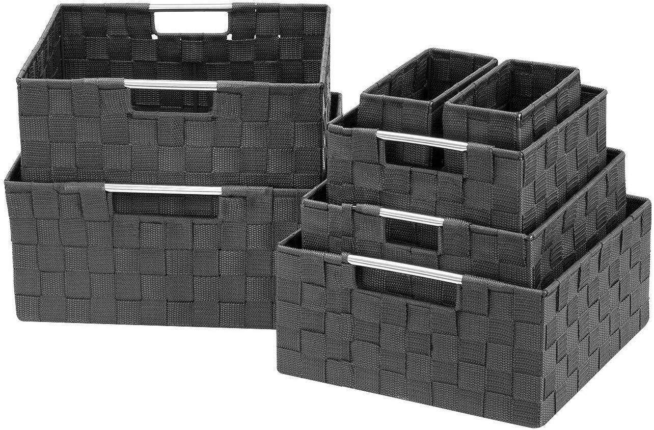 Large Cascade Gray 13.75 Inch x 17.75 Inch Anji Crate