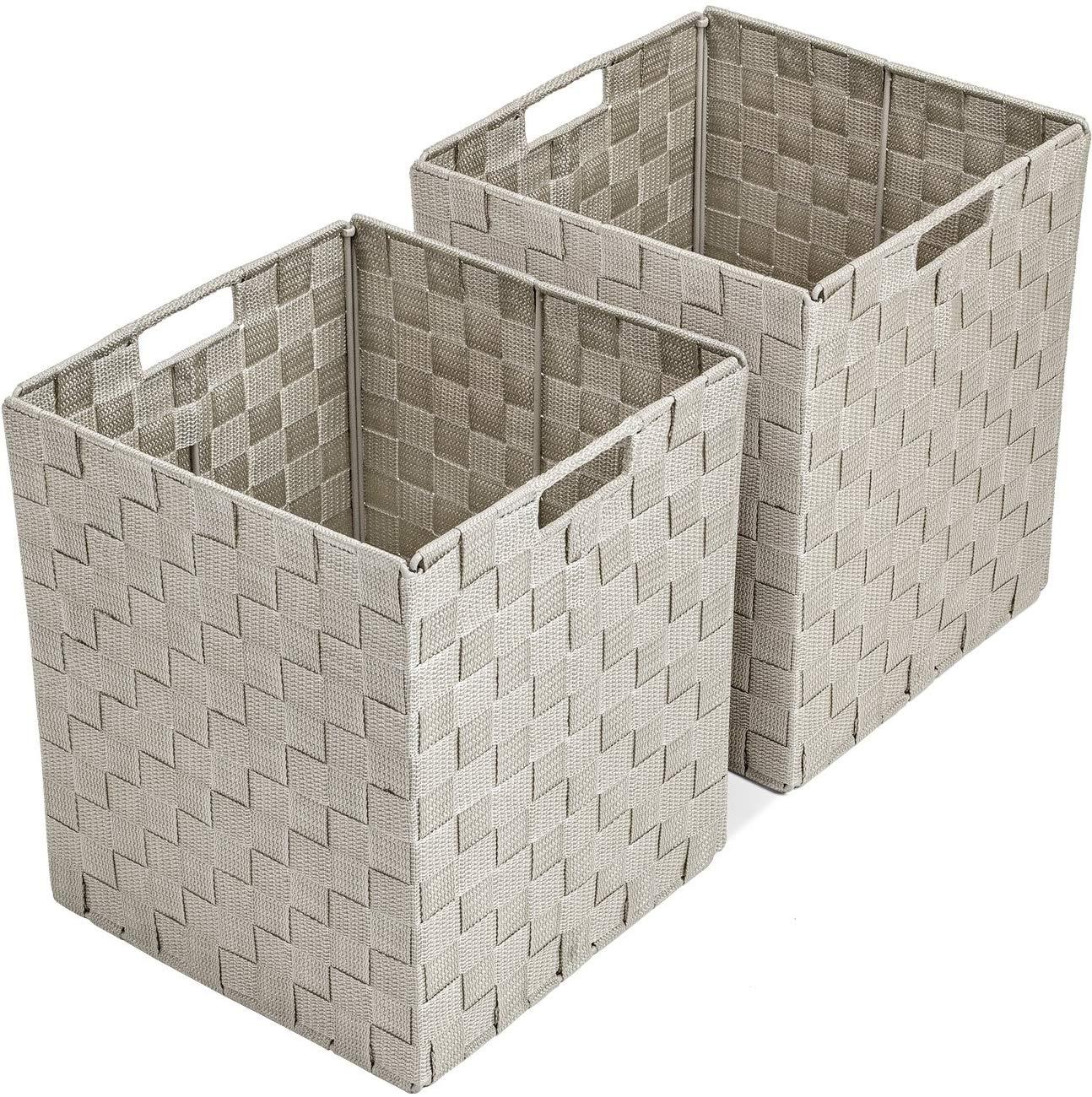 Large Cascade Khaki 12.75 Inch x 9.75 Inch Cube Case Bin