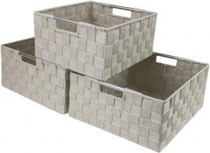 Large Cascade Khaki 12.50 Inch Cube Case Bin - Set of 3