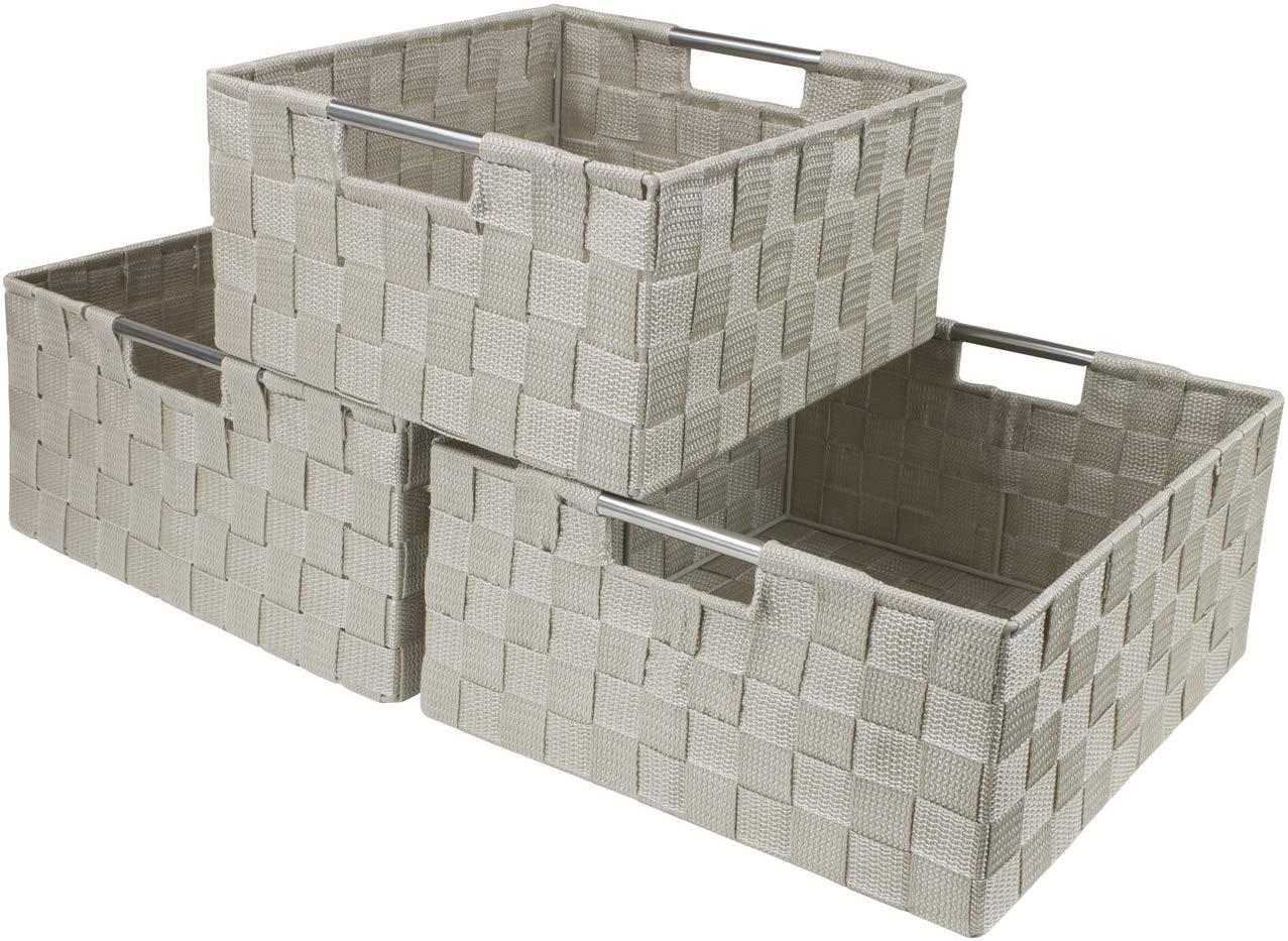 Large Cascade Khaki 13.1 Inch Cube Case Bin