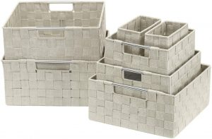 Large Cascade Khaki 13.75 Inch x 17.75 Inch Anji Crate
