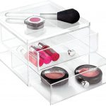 Large Clear 2-Drawer Makeup Chest