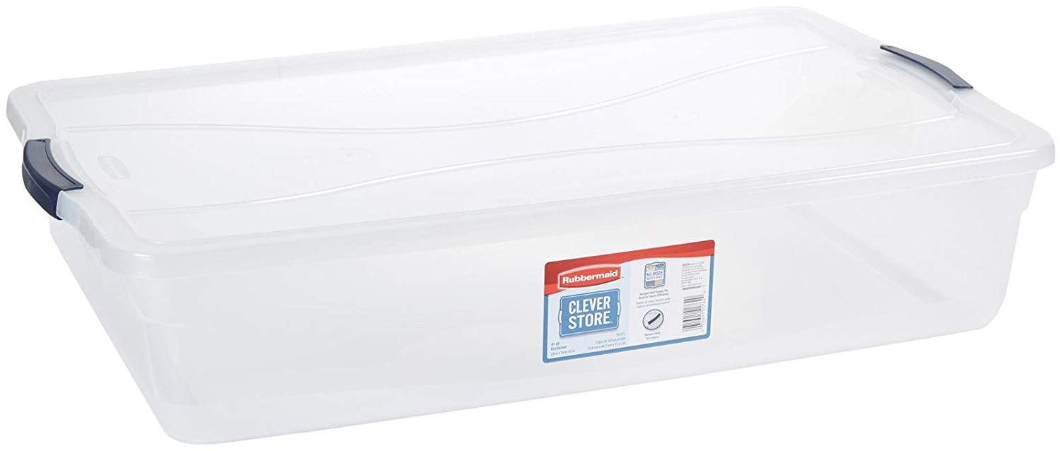 Large Clear Underbed Box, 36 Inch x 16 Inch