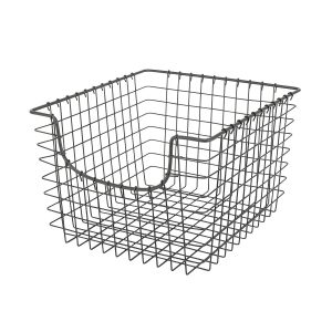 Large Gray 12 Inch x 13 Inch Scoop Basket