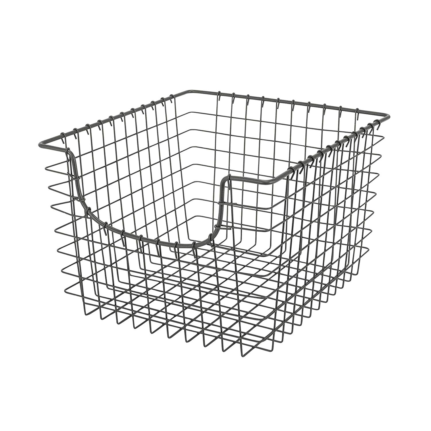 Large Nickel Scoop Basket