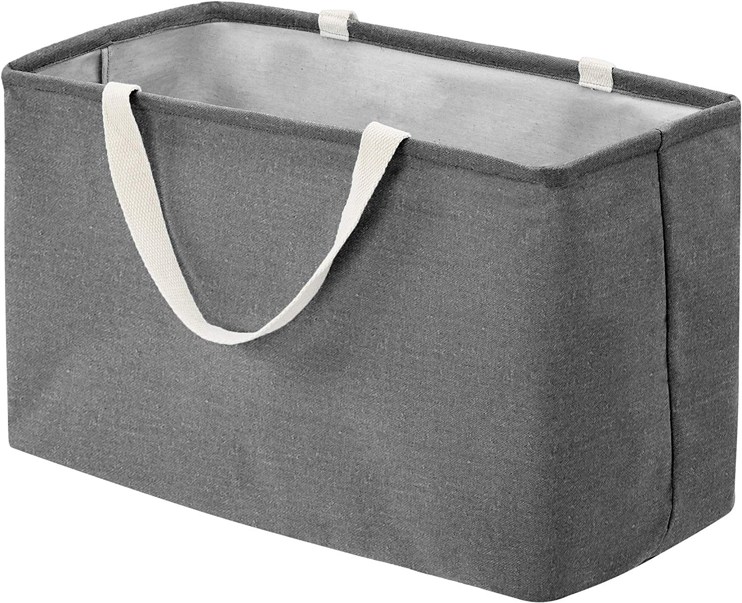 Large Gray 13 Inch x 22 Inch Eco-Fabric Bin