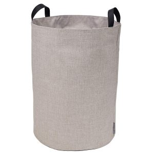 Large Round Beige Soft Storage Bin