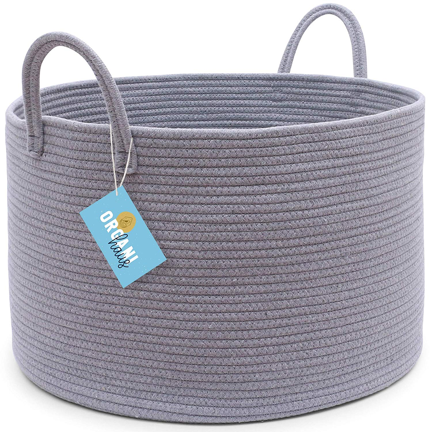 Extra Large Round Grey Soft Storage Bin