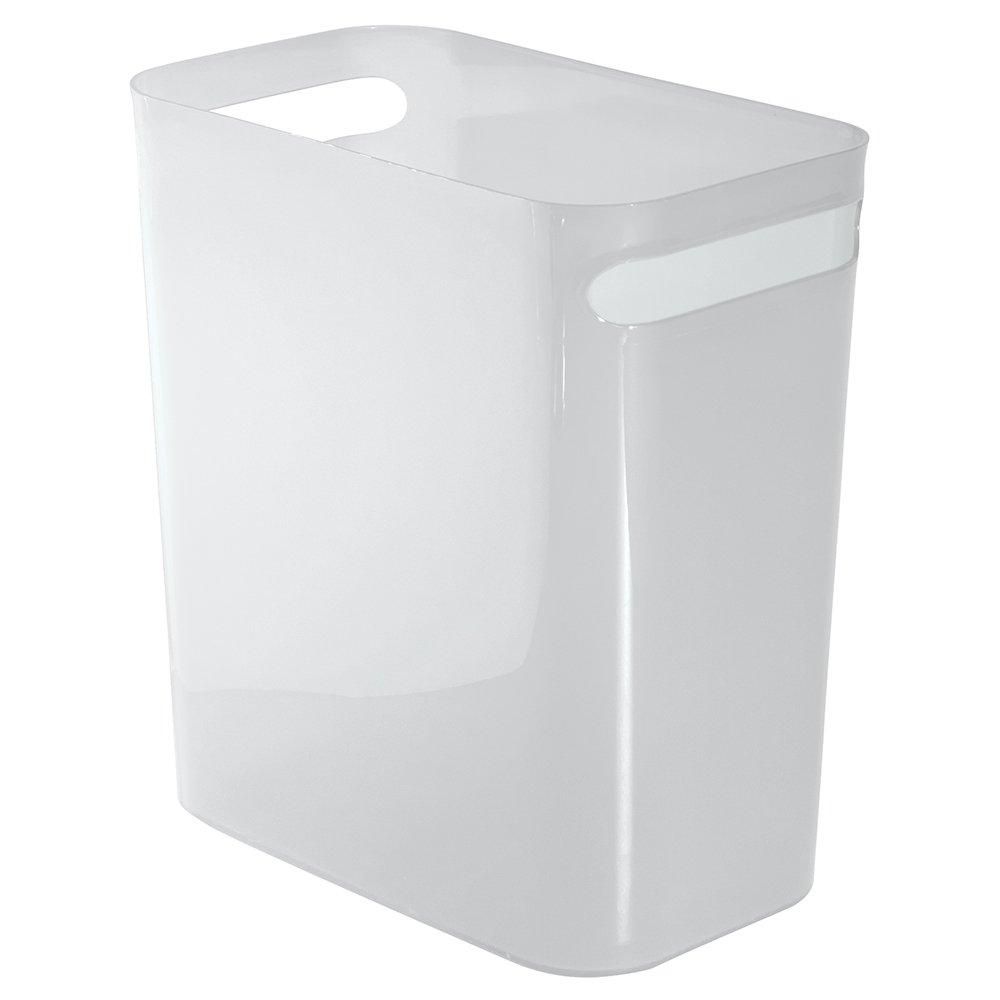 Large White Una Waste Can