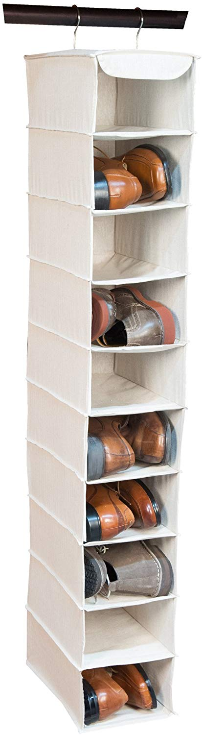 Loft 10-Shelf Hanging Shoe Organizer