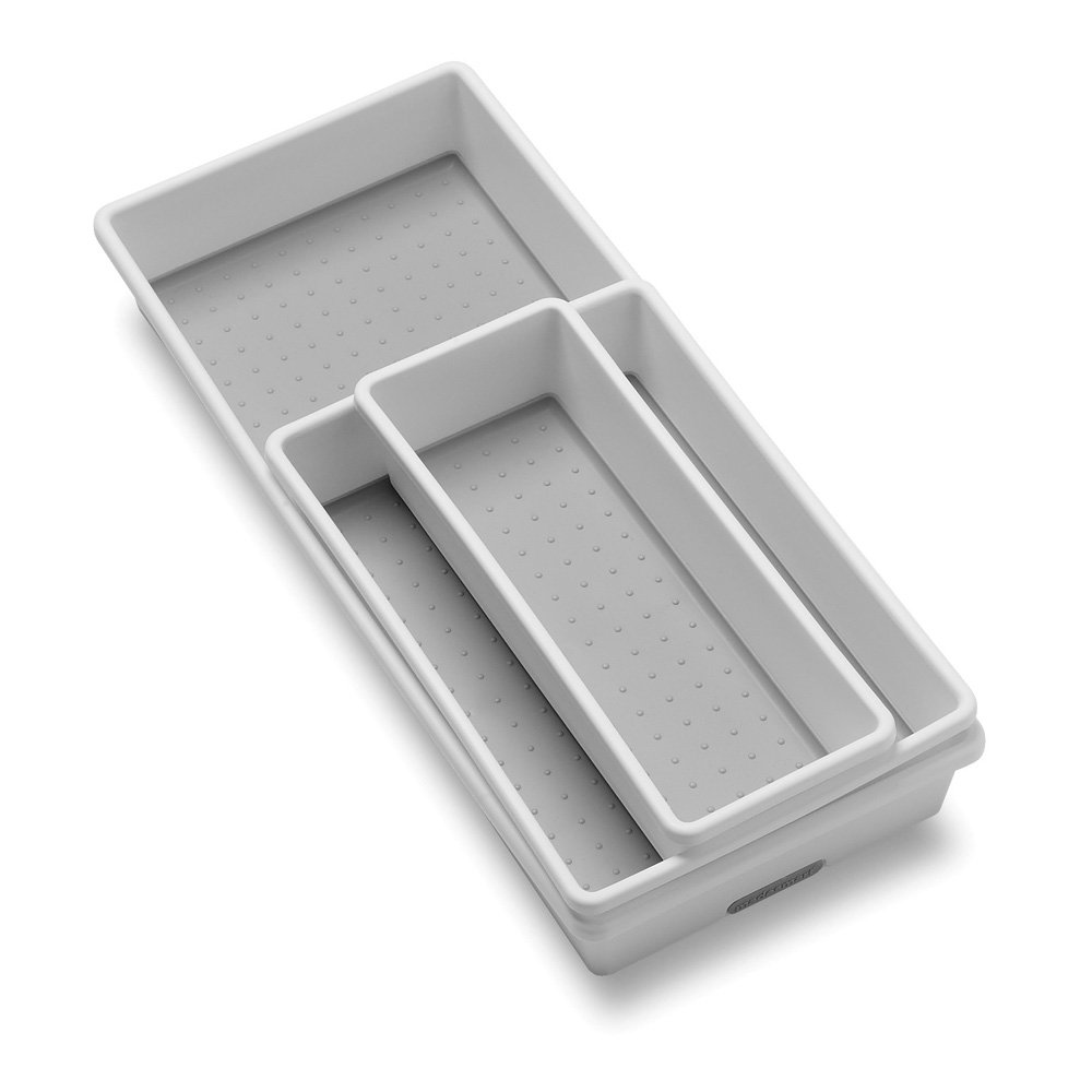 "3"" x 9"" White Drawer Organizer by Dial"