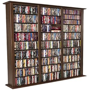 Triple Walnut Media Storage
