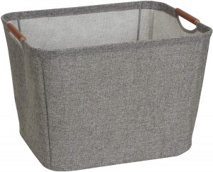 Medium Gray Tapered 13 Inch Bin