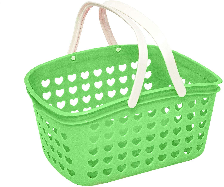 Medium Green Dot Basket