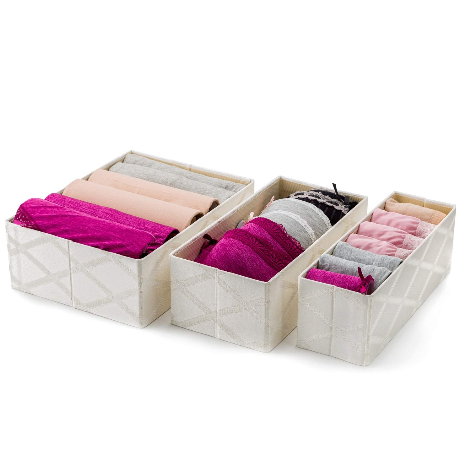 Natural Linen 3-Compartment Organizer