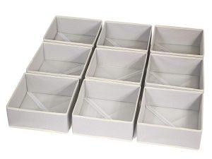 Natural Linen 9-Compartment Organizer