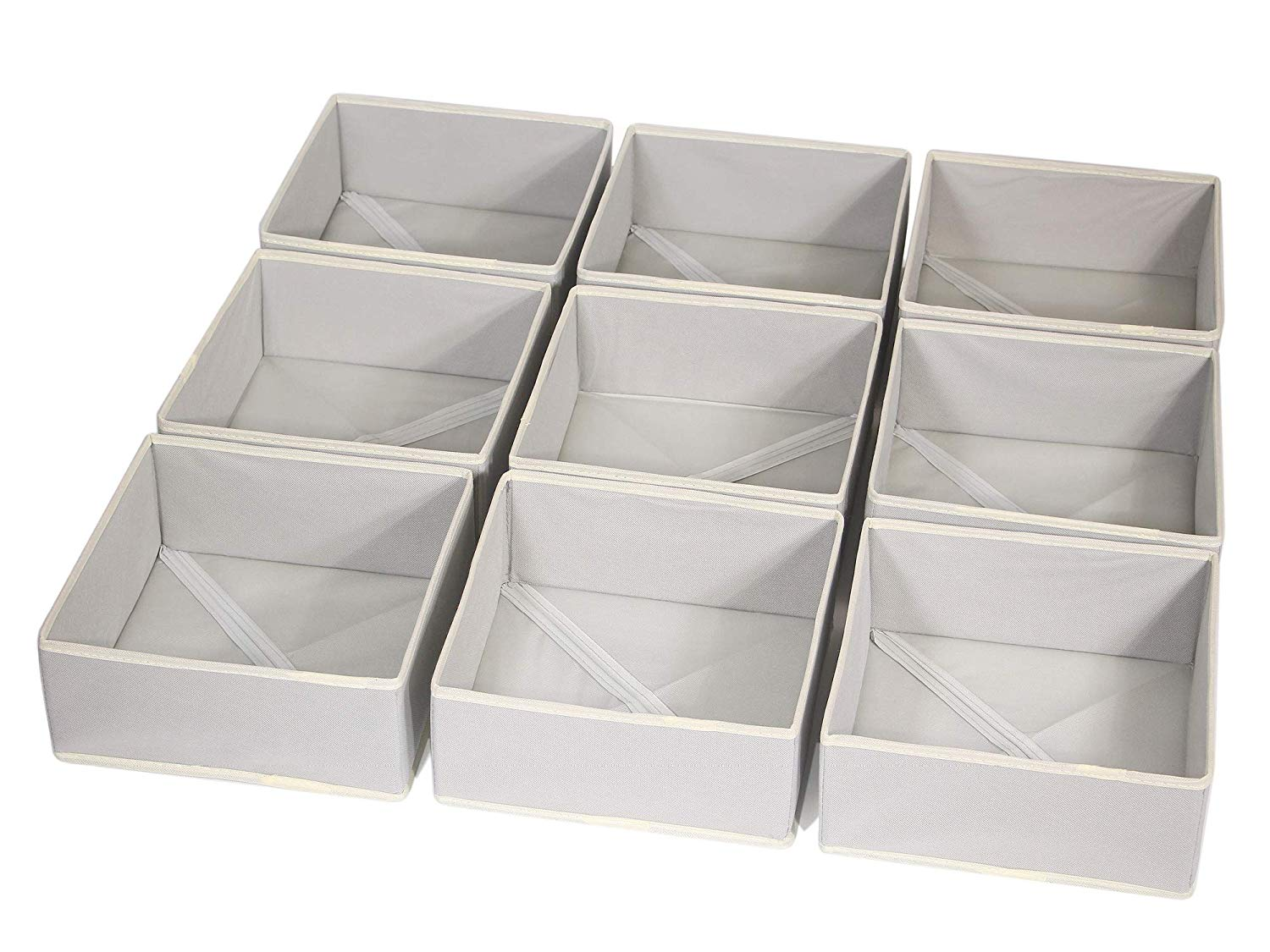 Natural Linen 9-Compartment Organizer
