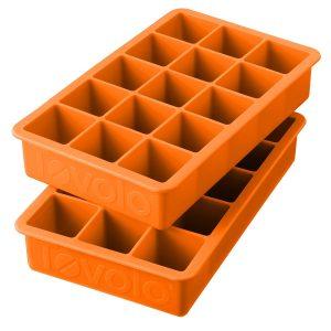 Orange Silicone Perfect Cube Ice Cube Trays