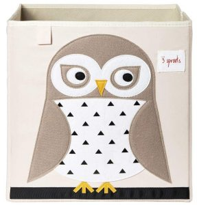 Owl 13 Inch x 13 Inch Folding Crate