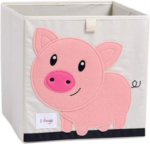 Pig 13 Inch x 13 Inch Folding Crate