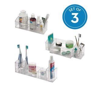 Plastic Bathroom Medicine Cabinet Organizers