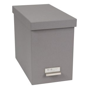 Poppin Medium Dark Gray File Box