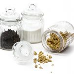 Ripple Small Glass Jar with Airtight Lid