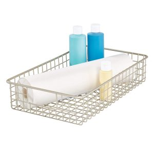 Short Satin Classico 9 Inch x 16 Inch Wire Basket