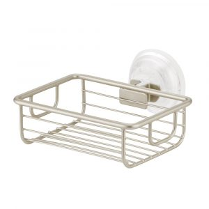 Silver Power Lock Max Suction Soap Holder