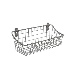Small Gray Cabinet & Wall Mount Basket