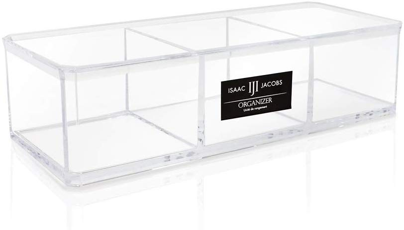 Small 3-Compartment Acrylic Stackable Tray