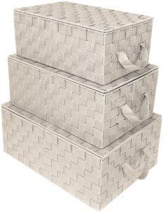 Small Cascade Brown Woven 14'' L x 7.75'' W x 5.62'' H Box