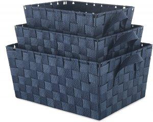 Small Cascade Navy 8.3 Inch  Rectangular Crate