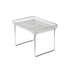 Small Clear Stackable Cabinet Shelf