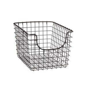 Small Gray 9.5 Inch x 12.75 Inch Scoop Basket