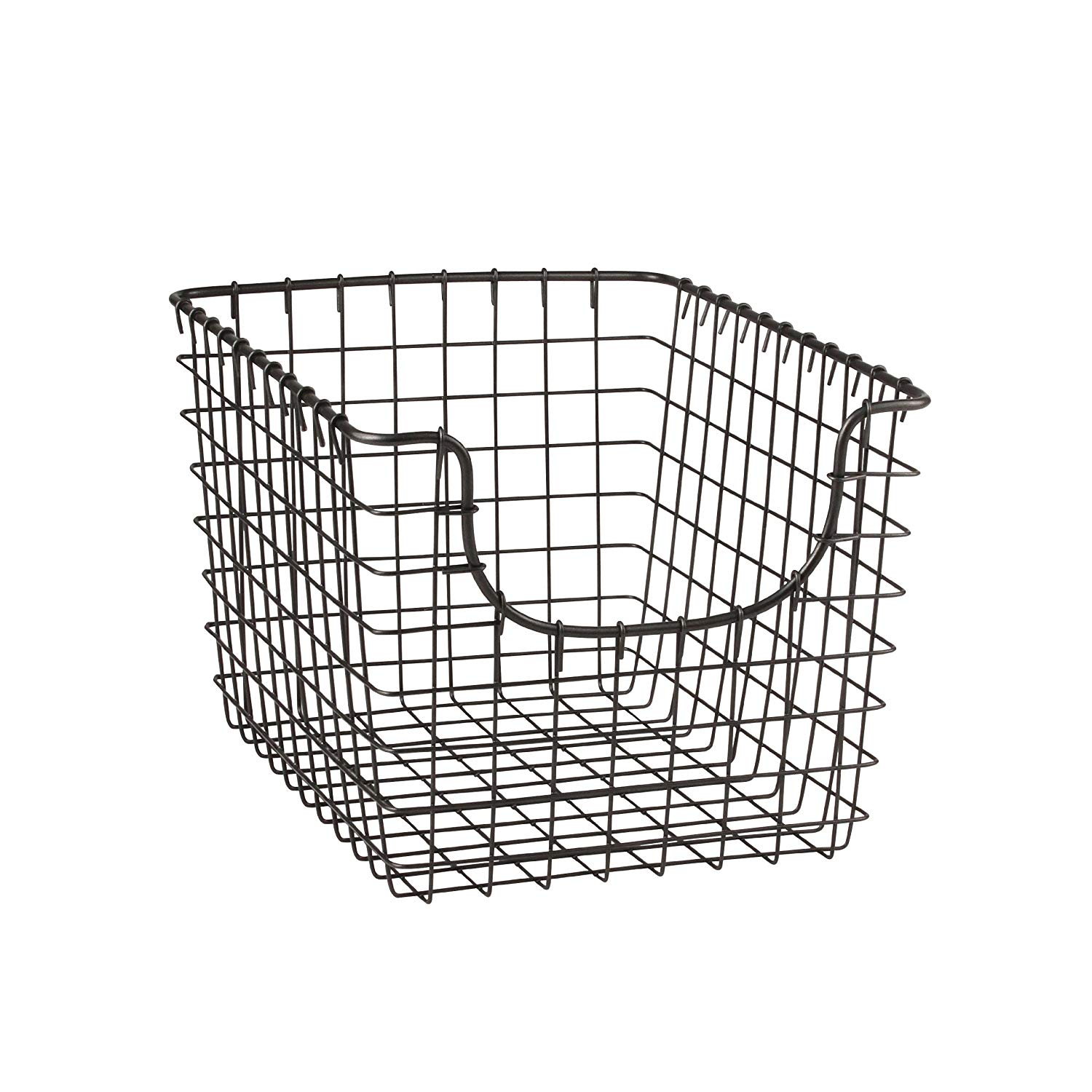 Small 11.25 x 4.5 Gray  Cabinet & Wall Mount Basket