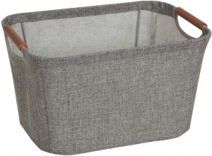 Small Gray Tapered 7.5 Inch Bin