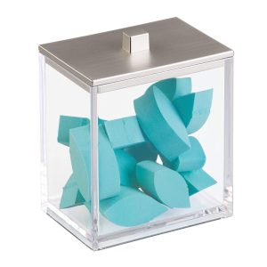 Square Satin Clarity Canister