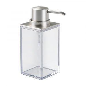 Square Satin Clarity Soap Pump