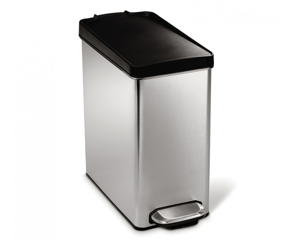 Stainless Steel Rectangle Waste Can - 2.6 Gallon