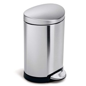 Stainless Steel Semi-Round Waste Can - 1.5 Gallon