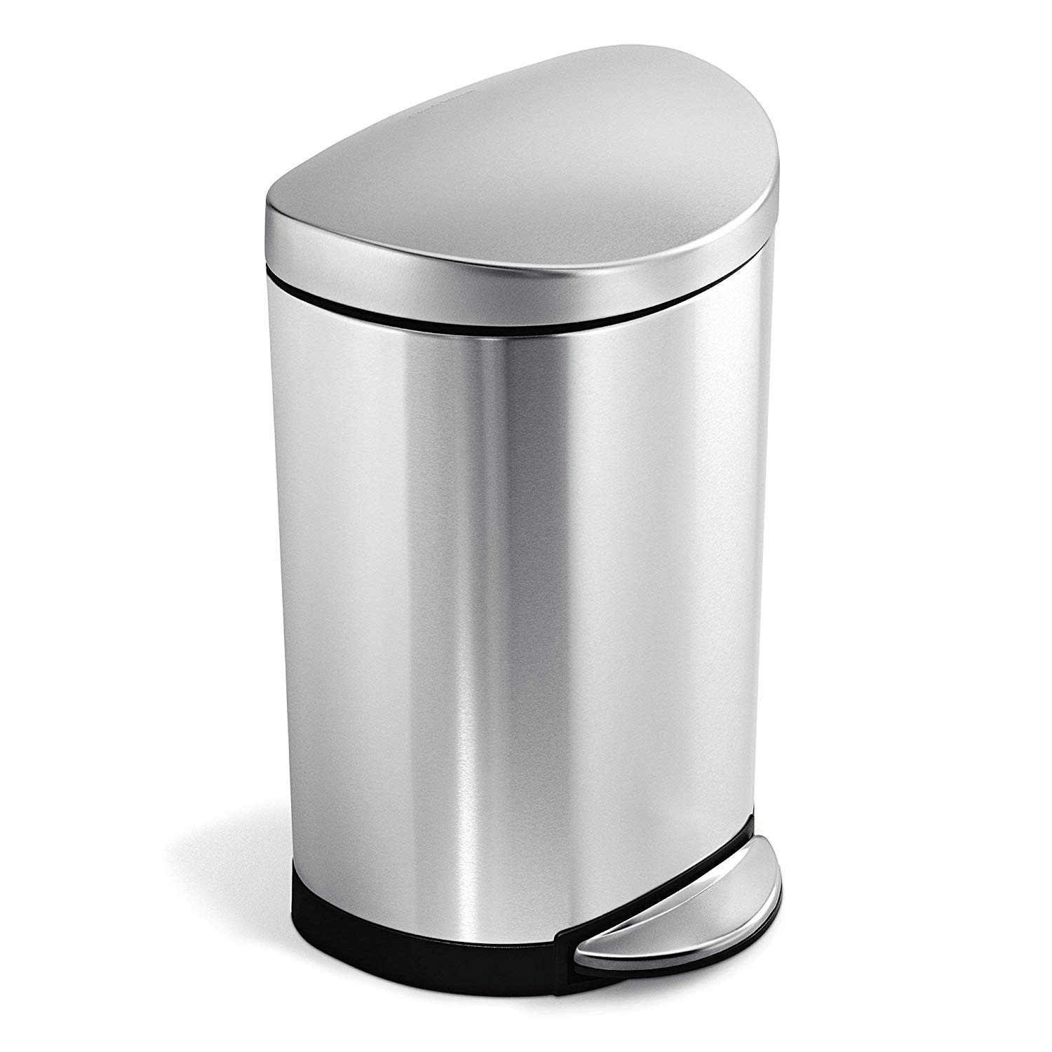 Stainless Steel Semi-Round Waste Can - 2.6 Gallon