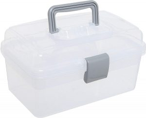 Storage Tote With Tray