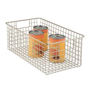 Tall Satin Classico 9 Inch x 16 Inch Wire Basket