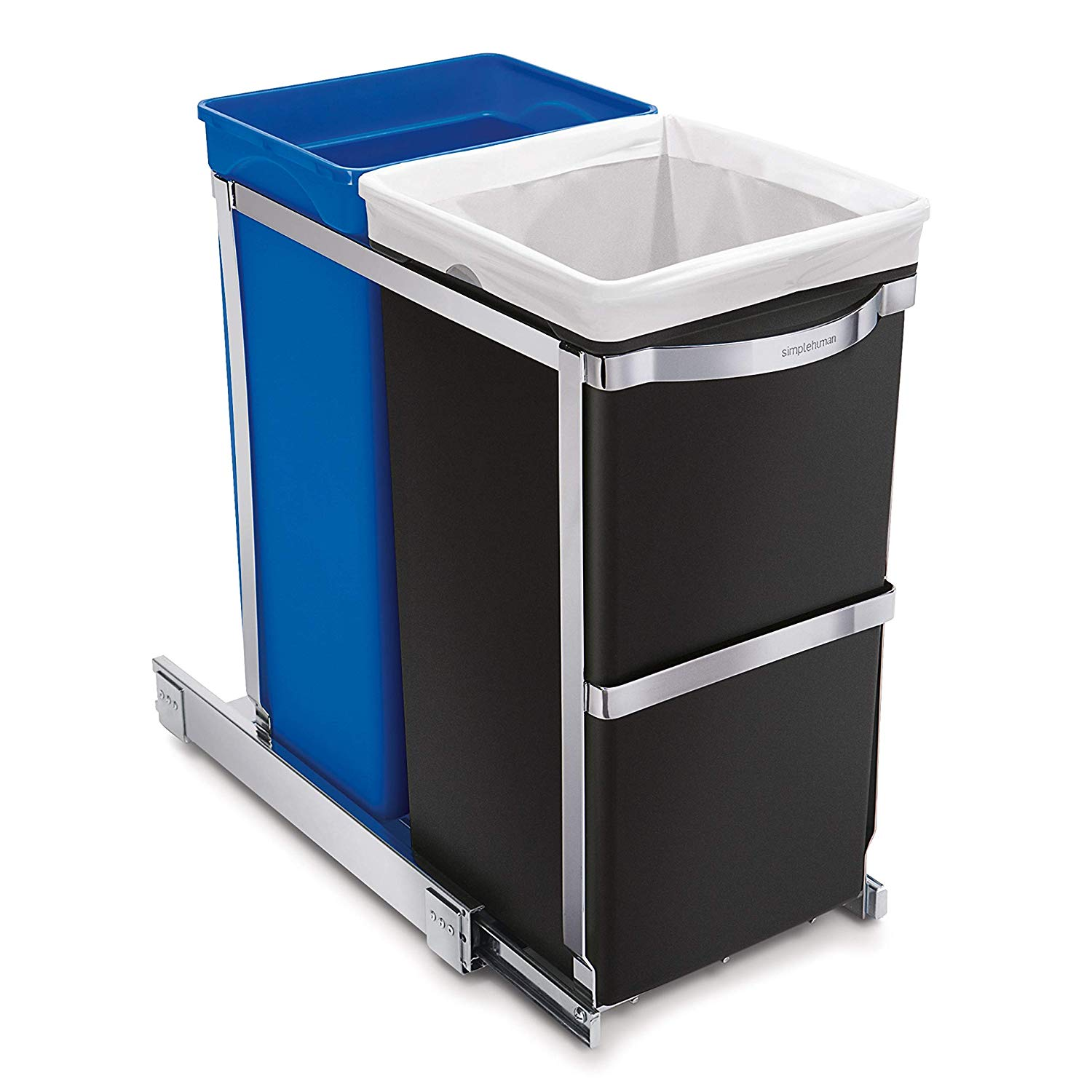Under Counter Pull-Out Trash & Recycling Can