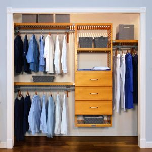 Walk-In Closet: Honey Maple