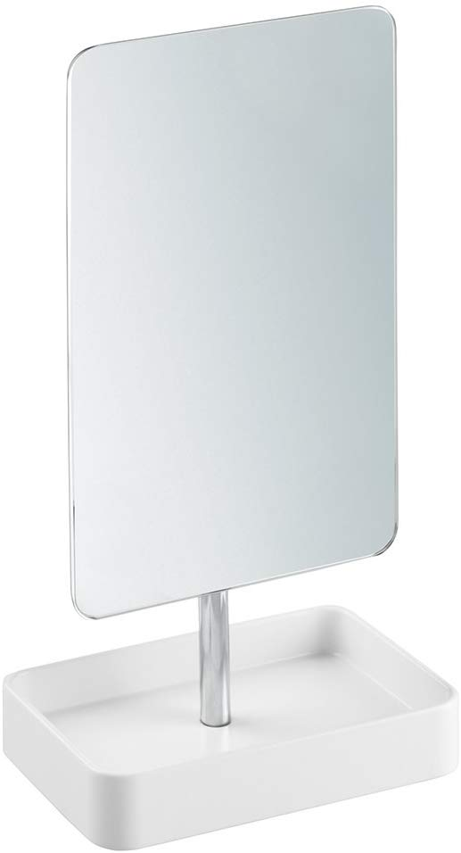 White & Chrome Gia Mirror Stand